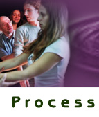 Vocal Process Banner 3 showing group work and performance coaching
